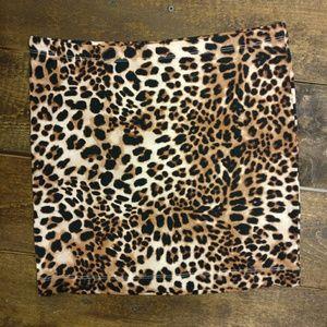 H&M Stretchy, Tight, Spandex, Leopard Skirt, Sexy!