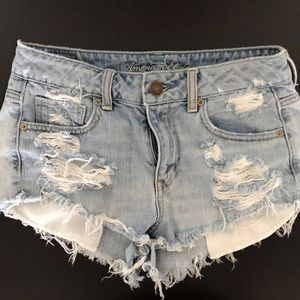 American Eagle Outfitters Pants - Ripped high waisted AE shorts