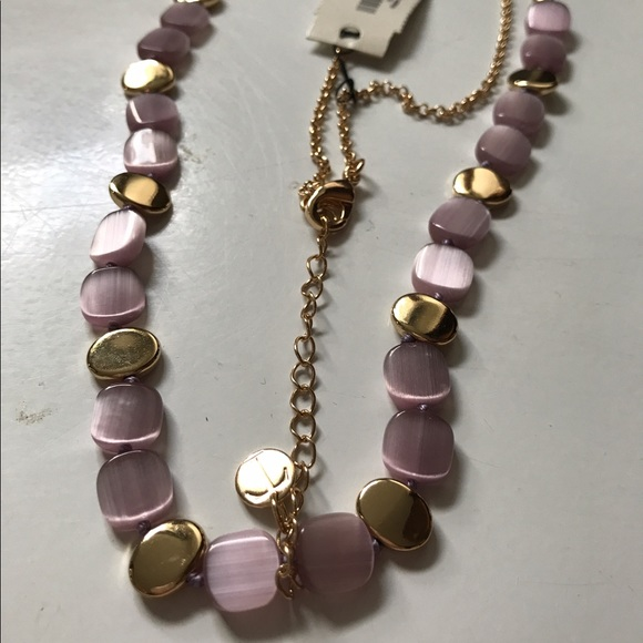75 talbots jewelry lavendar and gold necklace and