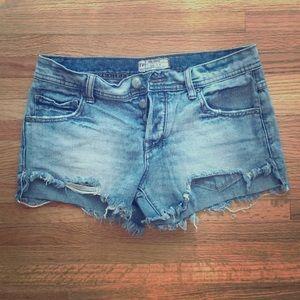 Free people jean shorts size 26