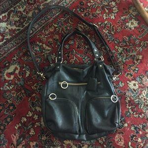 Deena & Ozzy Handbags - UO Deena & Ozzy black leather bag