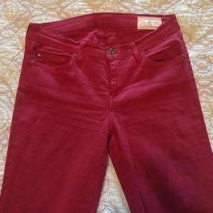 Angry Rabbit Denim - Maroon Angry Rabbit brand stretch jeans
