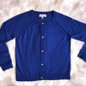 Milly Minis Other - MILLY Minis - Inset-Trim Cobalt Blue Cardigan