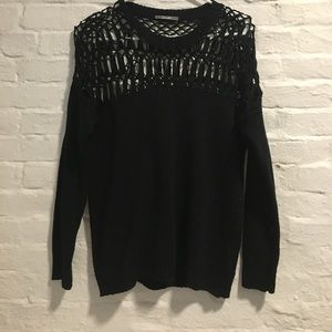 Sweaters - Sweater with knit top.