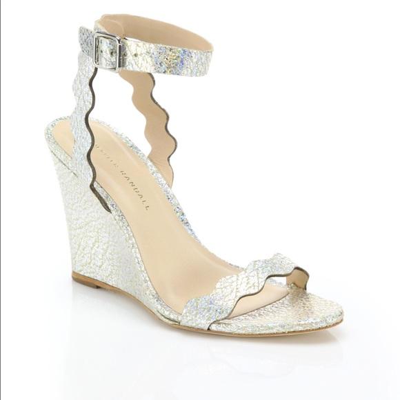 b14c5c733c04 Loeffler Randall Shoes - Loeffler Randall Piper Metallic Wedge Sandals