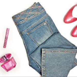Escada Bootcut Jeans with Swarovski Crystals