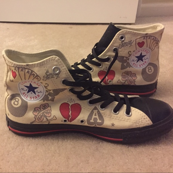 e6d26f6ac583b3 Converse Shoes - Sailor Jerry Tattoo Converse Chuck Taylor