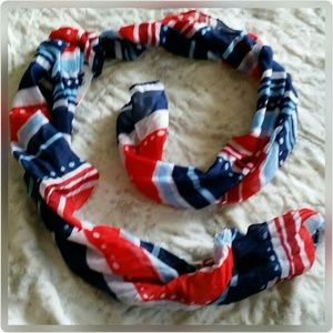 Accessories - Americana Striped Scarf