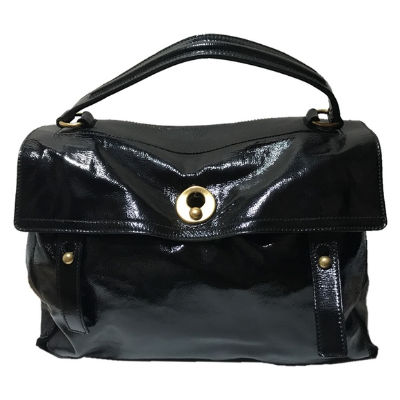 YSL Black Patent Leather Muse 2. M 592f541e99086ac9d501a272 b8921a73d926c