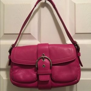 Coach Handbags - COACH SOHO HOT PINK / MAGENTA LEATHER SHOULDER BAG