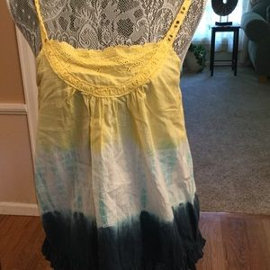 Heritage Tops - THREE COLORED GIRLY FLIRTY TANK TOP