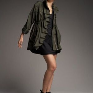 Ali Ro Jackets & Blazers - Ali Ro Urban Ruffle Front Anorak Coat