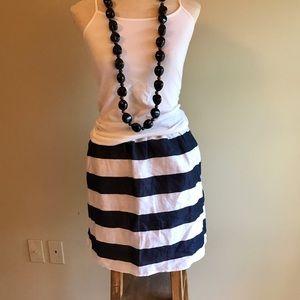 KENAR Dresses & Skirts - KENAR/Nordstrom Navy & White Linen Skirt Size 12
