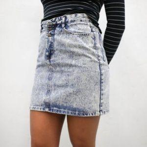 Vintage Dresses & Skirts - Vintage • Acid wash mini skirt