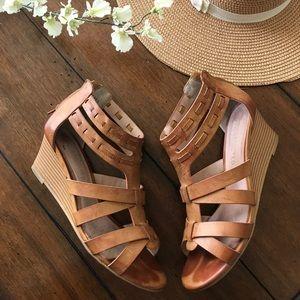 Gladiator wedge sandals