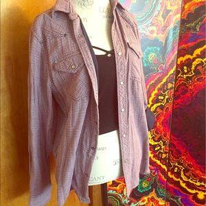 Plaid light flannel jacket oversized