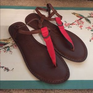 American Eagle red sandals