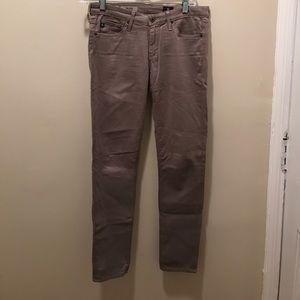 AG Adriano Goldschmied Denim - Grey brown stilt cigarette jeans
