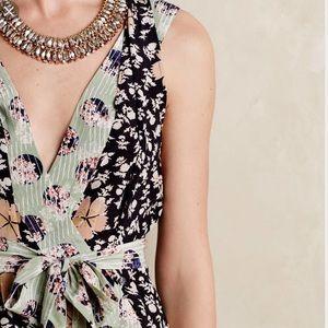 Anthropologie Tops - HD in Paris Starflower Silk Wrap Blouse Size 4