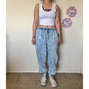 Sparkle And Fade UO Acid wash jogger pants