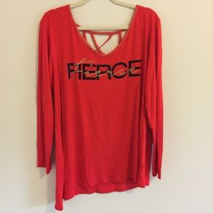 Lane Bryant LIVI Active Workout Long Sleeve Fierce