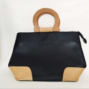 Cleo & Patek Structured Genuine Leather Bag