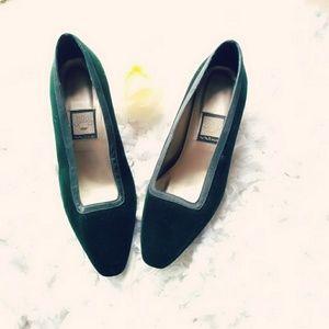 Nina Shoes - Nina dark green VELVET heels