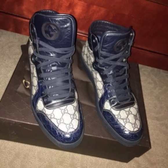 ace503766b3 Gucci Other - Gucci Sneakers. Navy blue Gators. Gucci high top