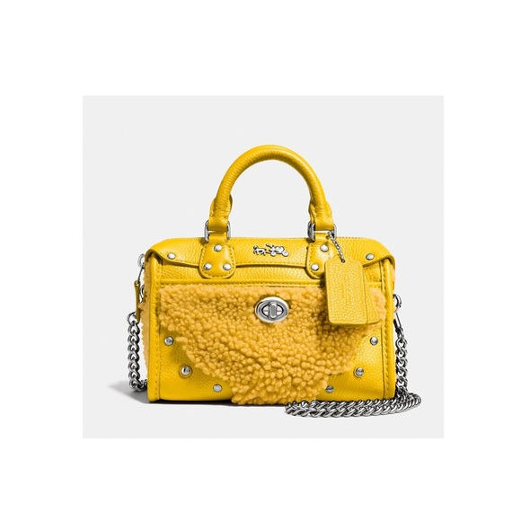 4bea5a99a5 ... inexpensive coach yellow shearling leather mini bag db359 721f0