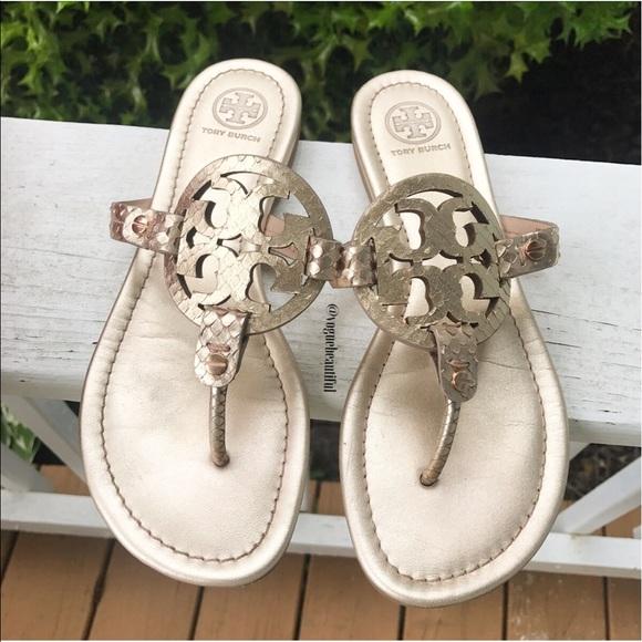 1fa38effd Tory Burch Rose Gold Miller Sandals. M 592f6a895c12f8d0a801ea1c