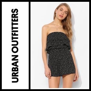 Urban Outfitters Pants - UO Pins & Needles Double Ruffle Strapless Romper