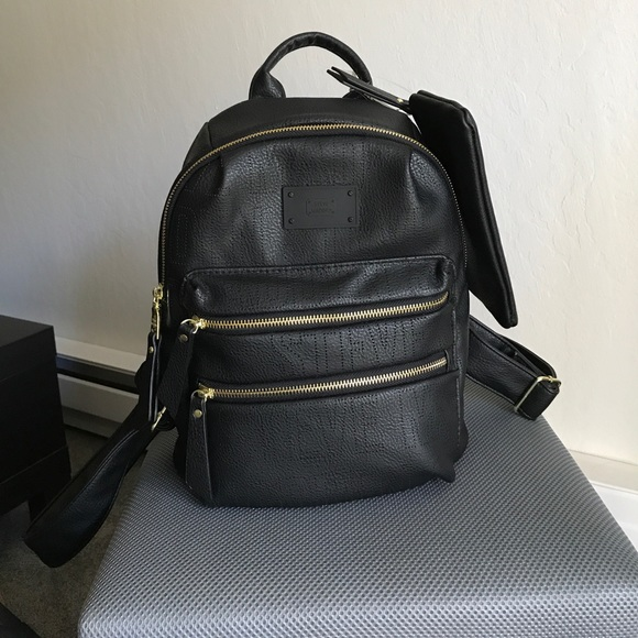 119c59945e14 Steve Madden Small Black Faux Leather Backpack