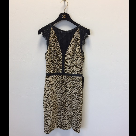 1457826a0a Guess Leopard print lace dress size small new
