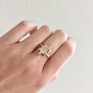 Lucky Brand Jewelry - Rose Gold Plated Sterling Silver CZ Star Ring