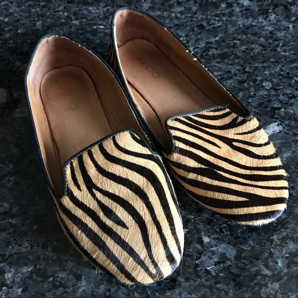 8a47fb61802 Aldo Shoes - Women s Aldo Tiger Print Fur Flats Loafers