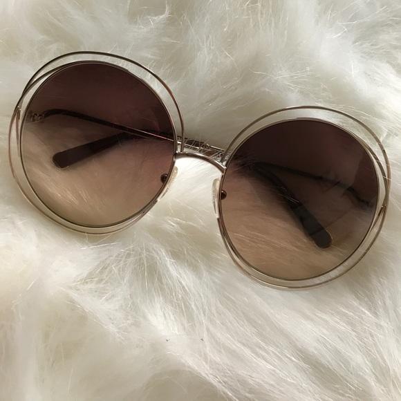 d30da22115383 Chloe Accessories - Authentic Chloe Carlina Sunglasses - Rose Gold