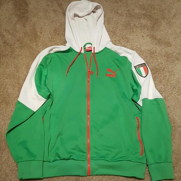16f9b1fa07e29 Mens Puma Mexico Track Jacket Hoodie sz XL