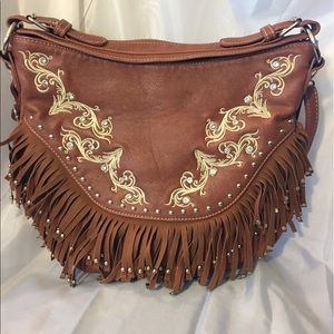 Handbags - Rustic Couture fringe handbag! Like new condition