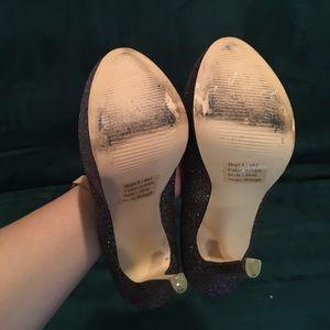 Betsey Johnson Shoes - Betsy Johnson Glitter Platform Heels