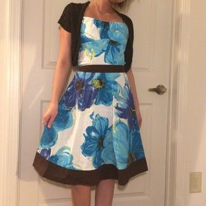 Ruby Rox Dresses & Skirts - Ruby Rox flower pattern dress & rue21 cardigan