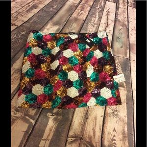 Do & Be  Dresses & Skirts - Multi-colored Sequin skirt size M.