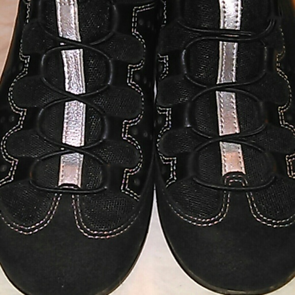 61 ecco shoes ecco black leather canvas loafers