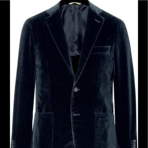 Canali Other - Canali Blue Kei Slim-Fit Cotton Velvet Blazer