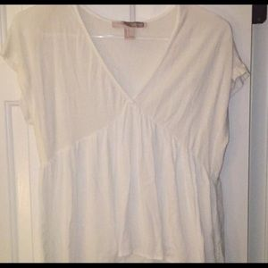 White pleated T-shirt