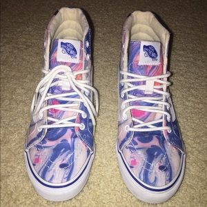 aa45ad3add Vans Shoes - VANS Sk8-Hi Slim Pink White   Blue Marble