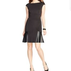 American Living Dresses & Skirts - 🆕️ American Living Faux Leather Trim Scuba Dress