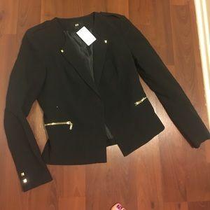 NWT H&M Black Blazer Sz 10
