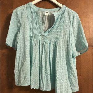 Patterned Short Sleeve Blouse