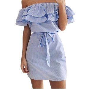 Dresses & Skirts - 🆕 Off Shoulder Summer Dress 👗 with belted waist