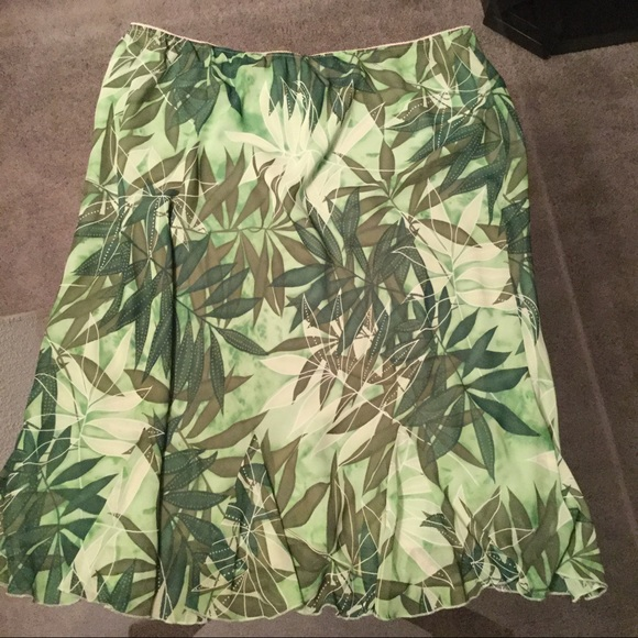 New York Clothing Company Dresses & Skirts - Tropical Green Skirt